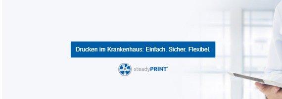 steadyPRINT: Drucken im Krankenhaus: Einfach. Sicher. Flexibel