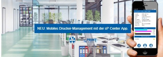 steadyPRINT: Mobiles Drucker-Management mit der sP Center App